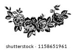 lace floral garland | Shutterstock .eps vector #1158651961
