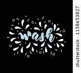 lettering poster for bathroom.... | Shutterstock .eps vector #1158653827