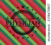 physician christmas badge... | Shutterstock .eps vector #1158670807