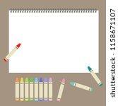 crayon and sketchbook   vector...   Shutterstock .eps vector #1158671107