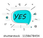 yes banner poster and sticker... | Shutterstock .eps vector #1158678454