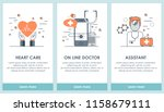 flat design medical and...