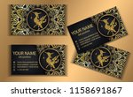 business card.thailand ancient... | Shutterstock .eps vector #1158691867