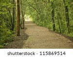 Bicycle route trail