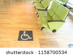 disabled icon sign on wooden... | Shutterstock . vector #1158700534