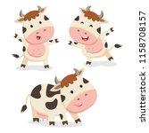 cute cows vector | Shutterstock .eps vector #1158708157