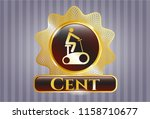 gold shiny badge with... | Shutterstock .eps vector #1158710677