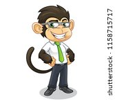 monkey with business appearance ... | Shutterstock .eps vector #1158715717