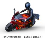 3d cg rendering of motorbike   Shutterstock . vector #1158718684