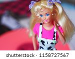 a beautiful barbie with white... | Shutterstock . vector #1158727567
