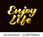 vector illustration of enjoy... | Shutterstock .eps vector #1158734464