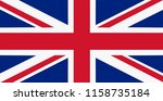 national flag of united kingdom  | Shutterstock . vector #1158735184