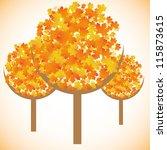 maple tree autumn leaves...   Shutterstock .eps vector #115873615
