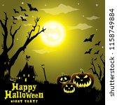 happy halloween background | Shutterstock .eps vector #1158749884