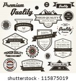premium quality labels with... | Shutterstock .eps vector #115875019