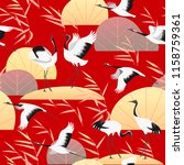 seamless pattern with japanese... | Shutterstock .eps vector #1158759361
