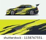 car wrap graphic racing... | Shutterstock .eps vector #1158767551