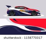 car wrap design abstract strip... | Shutterstock .eps vector #1158770317