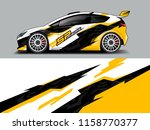 car wrap design abstract strip... | Shutterstock .eps vector #1158770377