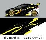 car wrap design abstract strip... | Shutterstock .eps vector #1158770404