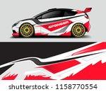 car wrap design abstract strip... | Shutterstock .eps vector #1158770554