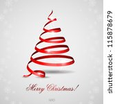 stylized ribbon christmas tree. ...