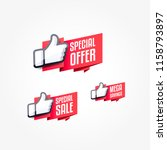 special offer  special sale  ... | Shutterstock .eps vector #1158793897