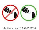 do not feed the birds warning... | Shutterstock . vector #1158812254