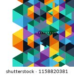 multicolored triangles abstract ... | Shutterstock .eps vector #1158820381