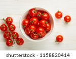 fresh red cherry tomatoes in...   Shutterstock . vector #1158820414