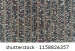 aerial top down photo automaker ... | Shutterstock . vector #1158826357