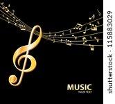 golden music background | Shutterstock .eps vector #115883029