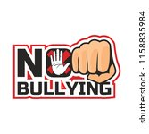 stop bullying  no bullying logo ... | Shutterstock .eps vector #1158835984