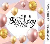 abstract happy birthday balloon ... | Shutterstock .eps vector #1158837607