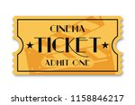 cinema ticket isolated on... | Shutterstock .eps vector #1158846217