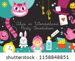 alice in wonderland birthday... | Shutterstock .eps vector #1158848851