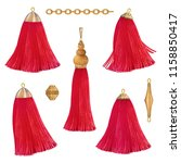 red tassels set | Shutterstock . vector #1158850417