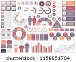 set of assorted business...   Shutterstock .eps vector #1158851704