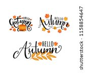 hello autumn. vector hand drawn ... | Shutterstock .eps vector #1158854647