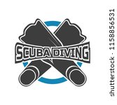 scuba diving logo for your... | Shutterstock .eps vector #1158856531