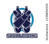 scuba diving logo for your... | Shutterstock .eps vector #1158856534