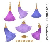 purple and mauve tassels | Shutterstock . vector #1158861214