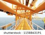 offshore construction platform... | Shutterstock . vector #1158863191