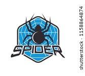 spider logo for your business ... | Shutterstock .eps vector #1158864874