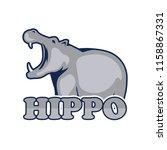 hippo logo for your business ... | Shutterstock .eps vector #1158867331