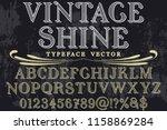 vintage font handcrafted vector ... | Shutterstock .eps vector #1158869284