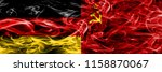 germany vs ussr smoke flags... | Shutterstock . vector #1158870067