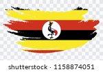 grunge brush stroke with uganda ... | Shutterstock .eps vector #1158874051