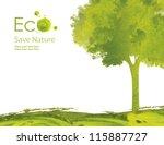 illustration environmentally... | Shutterstock . vector #115887727