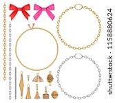 tassel accessory set | Shutterstock . vector #1158880624